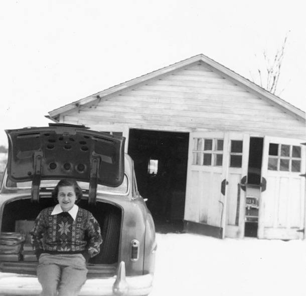 Grandma J. getting ready to hit the road sometime in the 50s.